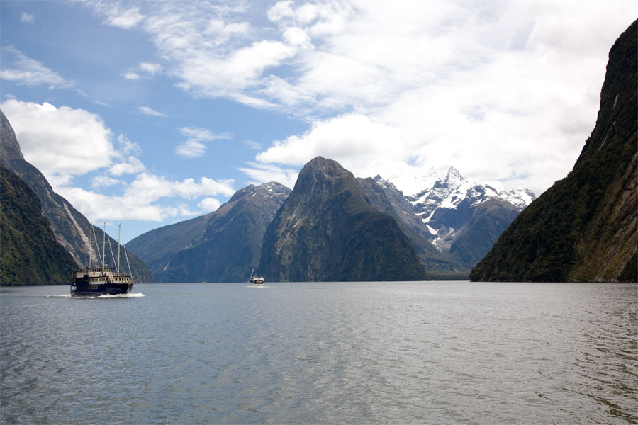 Sailing on Milford Sound