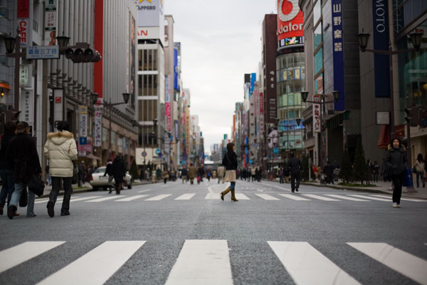 January 2006 No cars in Ginza