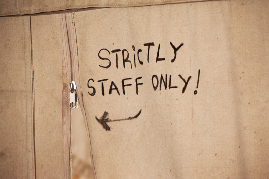 Strictly staff only